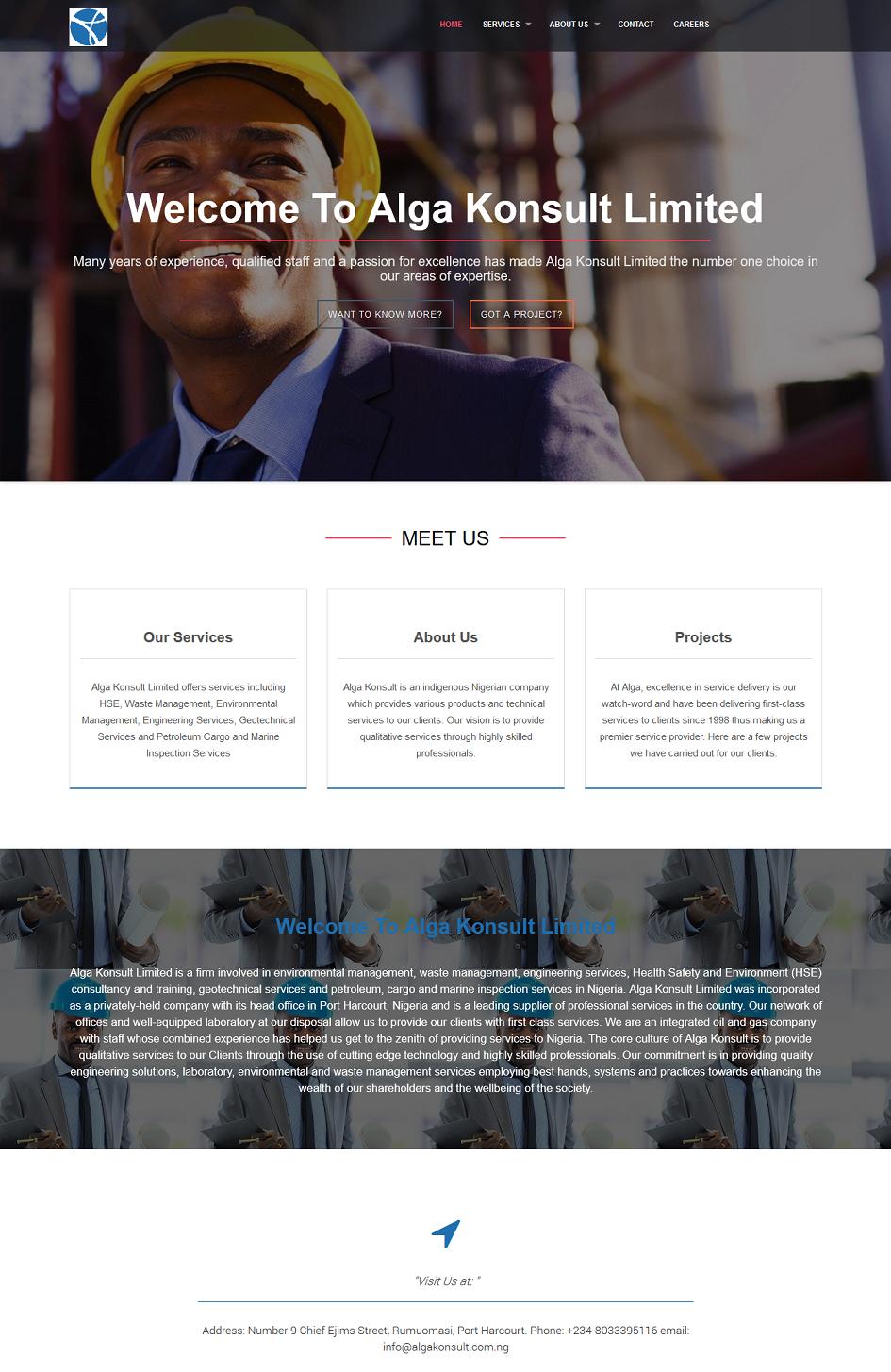 website design for alga konsult